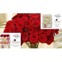 "(41) Red Roses Bouquet !!! (40-50 cm) Super Week Offer 24,99€ (Dutch Origin) + Pack of (11) Super Tasty ""edible"" Roses"