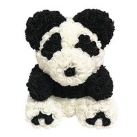 "Roses Teddy Bear ""Panda"". Dim. 40cm."