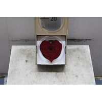 "Rose Big Head (10cm)  (preserved) In Arrangement with decoration. ""Heart Shape"" !!!  Very Exclusive !!!"