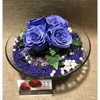 Roses Rainbow (4) Heads (preserved) In Arrangement with decoration !!! Very Exclusive !!!