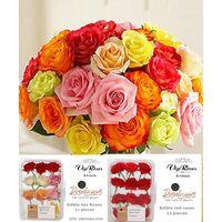Ανθοπωλείο. (41) τριαντάφυλλα  (διάφορα χρώματα)!!! Μπουκέτο + Πακέτο Με (11) Γευστικότατα Τριαντάφυλλα Που Τρώγονται !!!