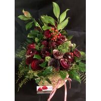 Christmas red flowers in  basket.Special.