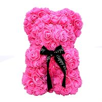 "Roses Teddy Bear. Dim. 40cm. In ""Decorative Package "". (1)piece. Black, Pink, Red, White.  (state your color  preference in the remarks field of the order form)"