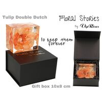 Vip Fossil Epoxy (1) Flower Tulip. Exclusive Gift Box !!! Εποξειδικό Απολίθωμα !!!