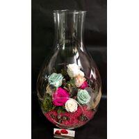 """Τριαντάφυλλα  4ever σε Γυάλα """" Δάκρυ """"  (11) Τεμ. Τυχαία Χρώματα (ή Υποδείξτε το χρώμα της αρεσκείας σας στη φόρμα παραγγελίας)"""