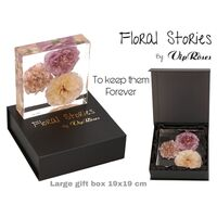 Vip Fossil Epoxy (3) Flowers Large. Exclusive Gift Box !!! Εποξειδικό Απολίθωμα !!!