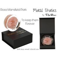 Vip Fossil Epoxy (1) Flower Rose Mansfield Park. Exclusive Gift Box !!! Εποξειδικό Απολίθωμα !!!
