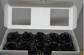 """(10) τριαντάφυλλα  με επικάλυψη """"Κεριού"""" Μαύρα Σύνθεση σε Βάζο !!! ΝΕΟ !!!"""