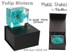 Vip Fossil Epoxy (1) Flower Tulip. Exclusive Gift Box !!! Εποξειδικό Απολίθωμα !!!