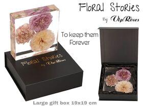 Vip Fossil Epoxy Medium (3) Flowers. Exclusive Gift Box !!! Εποξειδικό Απολίθωμα !!!