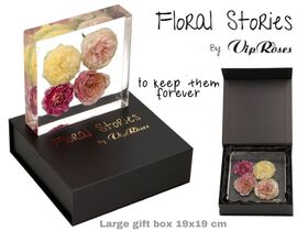 Vip Fossil Epoxy (4) Flowers Large. Exclusive Gift Box !!! Εποξειδικό Απολίθωμα !!!