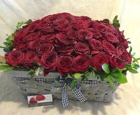"""""""Κόκκινα Τριαντάφυλλα"""" !!! Αγάπη χ 60 !!! (1) Πολυτελές Καλάθι (60) τεμ..!!!"""