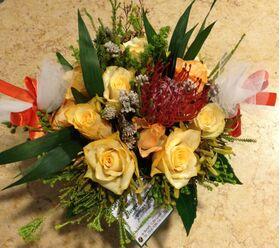 Καλάθι με φθινοπωρινά λουλούδια