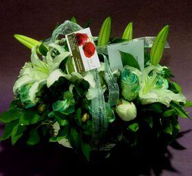 Ανοιξιάτικο καλάθι με λουλούδια εποχής!!! Λευκή & πράσινη Φύση!!!