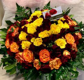 100 roses basket !