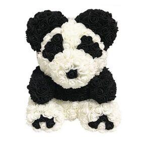 """Αρκουδάκια από τριαντάφυλλα.Rose Bear """"Panda"""" 40cm."""