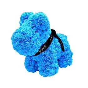 """Σκυλάκι - Σκύλος από τριαντάφυλλα.Rose """"Dog"""" 40cm. Συσκευασία Δώρου."""