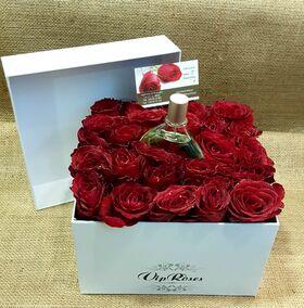"""Ανθοπωλείο. (24) τριαντάφυλλα σε """"Πολυτελές"""" κουτί"""