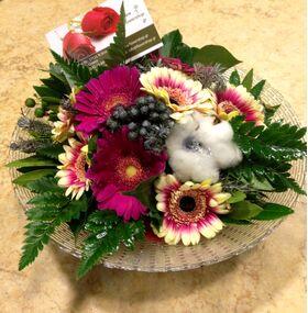 (10) Germini - Gerberas Bouquet + Vase (or  plate arrangement)