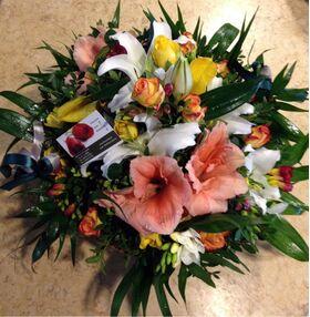 Ανοιξιάτικο καλάθι με λουλούδια εποχής!!!