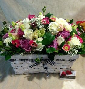 Gourmet Set ! Καλάθι με Λουλούδια ! Καλάθι με λιχουδιές ! Εξτρα !