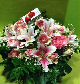 Καλάθι με ανοιξιάτικα λουλούδια. Ροζ άνοιξη !!!