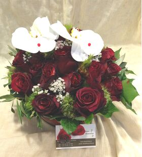 (21) red roses exclusive