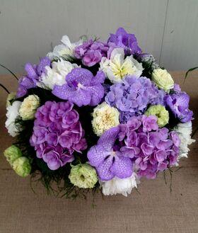 Exclusive arrangement with Vanda orchids  &  Hydrangeas