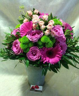 Μπουκέτο σε ροζ και πράσινο