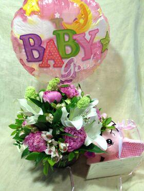Λουλούδια για γέννηση (Σετ)