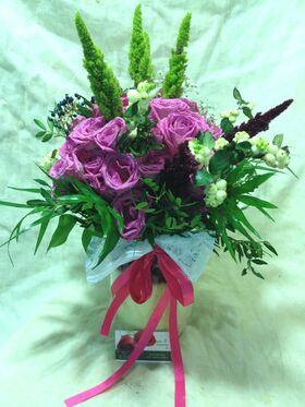 Τριαντάφυλλα Ροζ (40τεμ.) Ανθοδέσμη. Προσφορά Εβδομάδας Σπεσιαλ Σε Βάζο