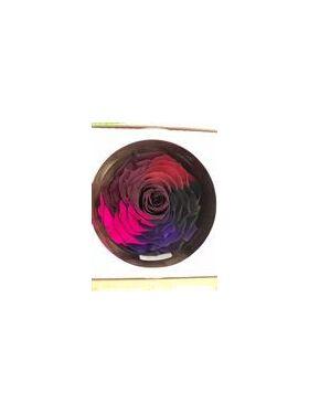 """Τριαντάφυλλο Βαλσαμωμένο (forever rose) (12 εκ.) XXL Σε διακοσμητικό κουτί """"καπελιέρα"""""""