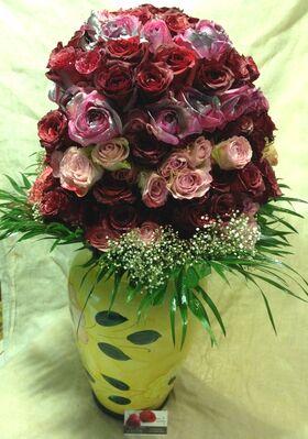 Αγάπη μου αυτή η υπέροχη σύνθεση είναι για σένα !!! Η Δύναμη Των Λουλουδιών !!!(200) Τριαντάφυλλα .